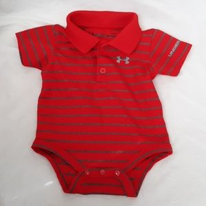 Under Armour 3-6m One-piece red gray outfit baby